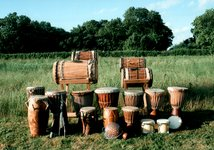 Lots and lots of African drums |