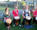 Bedford Djembe Group playing for the West African Paralympics farewell party |